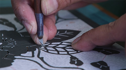 型彫り(カタフイ)の参考写真